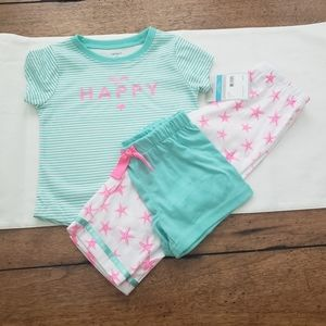 NWT Carter's 3-piece PJ set
